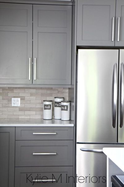 best color for gray kitchen cabinets The 9 Best Benjamin Moore Paint Colors – Grays (Including Undertones) | Kitchen cabinet paint