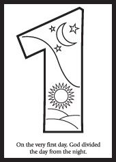 Days of creation, Coloring and Creation coloring pages on