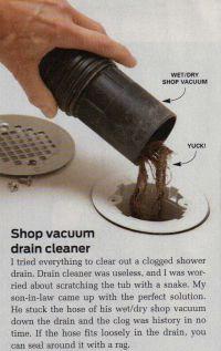 17 Best ideas about Unclog Shower Drains on Pinterest