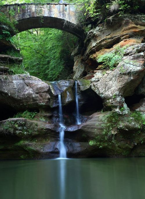 Fall Cottage Wallpaper Old Man S Cave Bridge Hocking Hills Ohio Beautiful