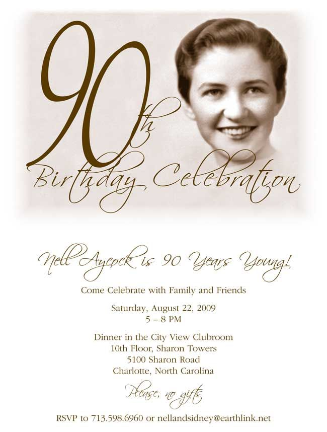 95th Birthday Party Invitation Template
