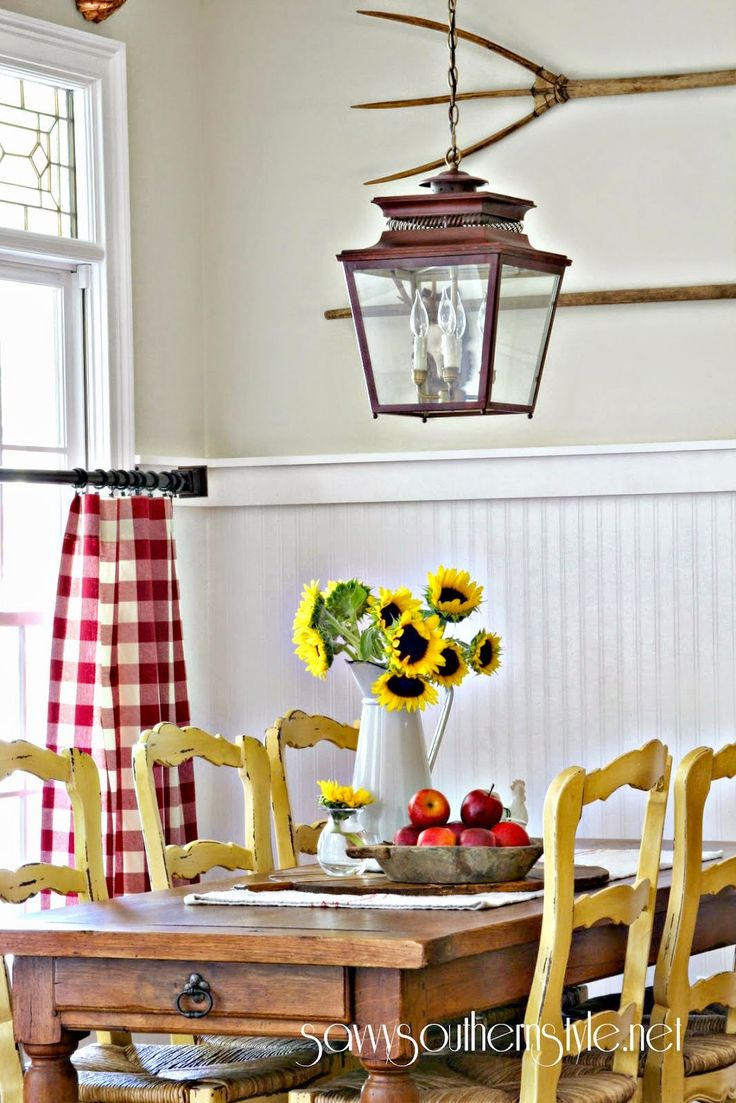 kitchen nook curtains aid microwaves decorating with vintage breadboards - savvy southern style ...