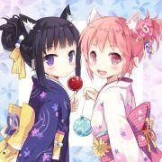 2girls akemi homura alternate costume