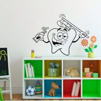 Wall Decal Vinyl Sticker Smiling Tooth Dental Clinics ...