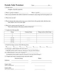 Periodic Table Worksheet   Chemistry   Pinterest ...