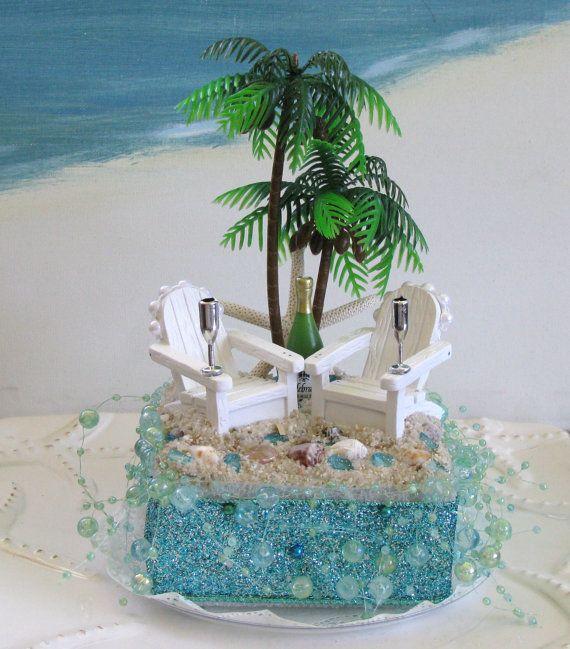 Palm Tree Adirondack Chairs Seahorse Beach Wedding Cake