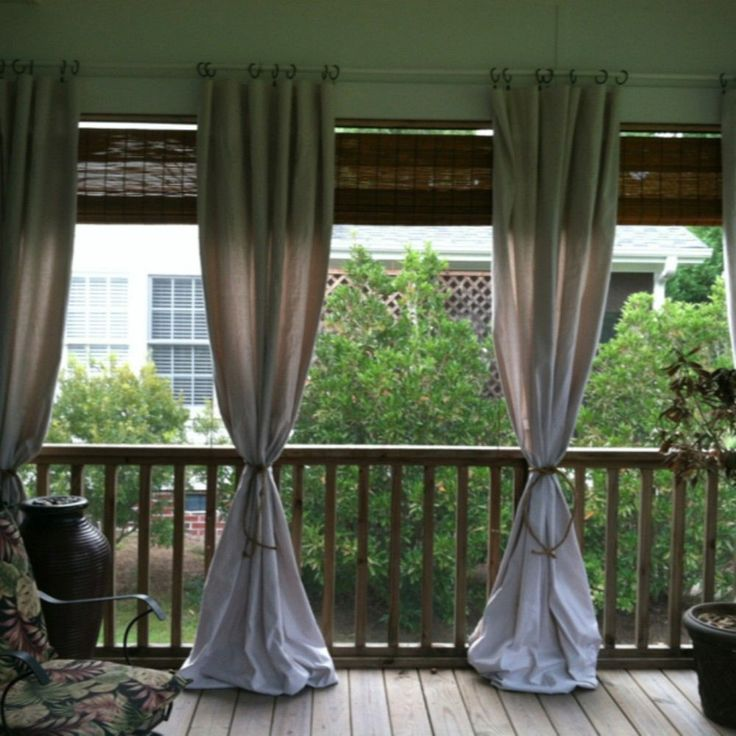 25+ best ideas about Front porch curtains on Pinterest