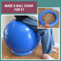 SWEET! Need a chair for your balance balls? Use pool