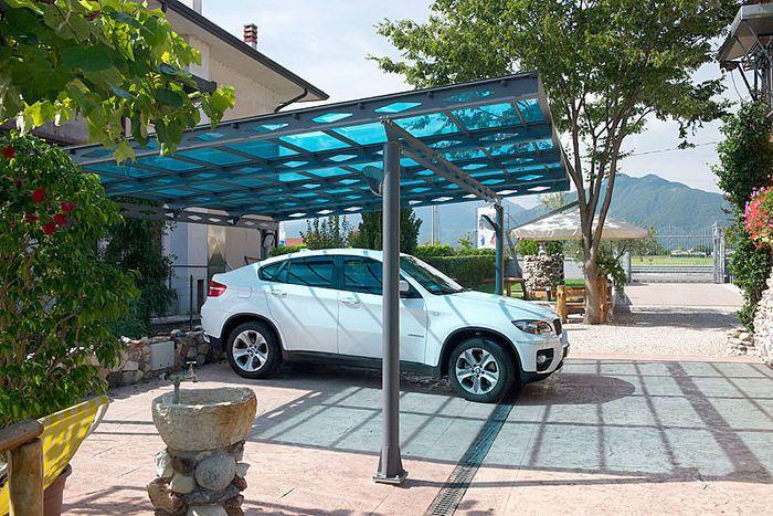 Carport With A Flat Roof Polycarbonate Carport Garage