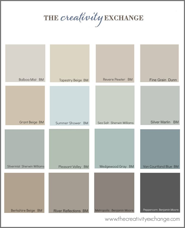 Little French Farmhouse – popular paint colors. All blend well with Annie Sloan chalk paint (furniture colors)