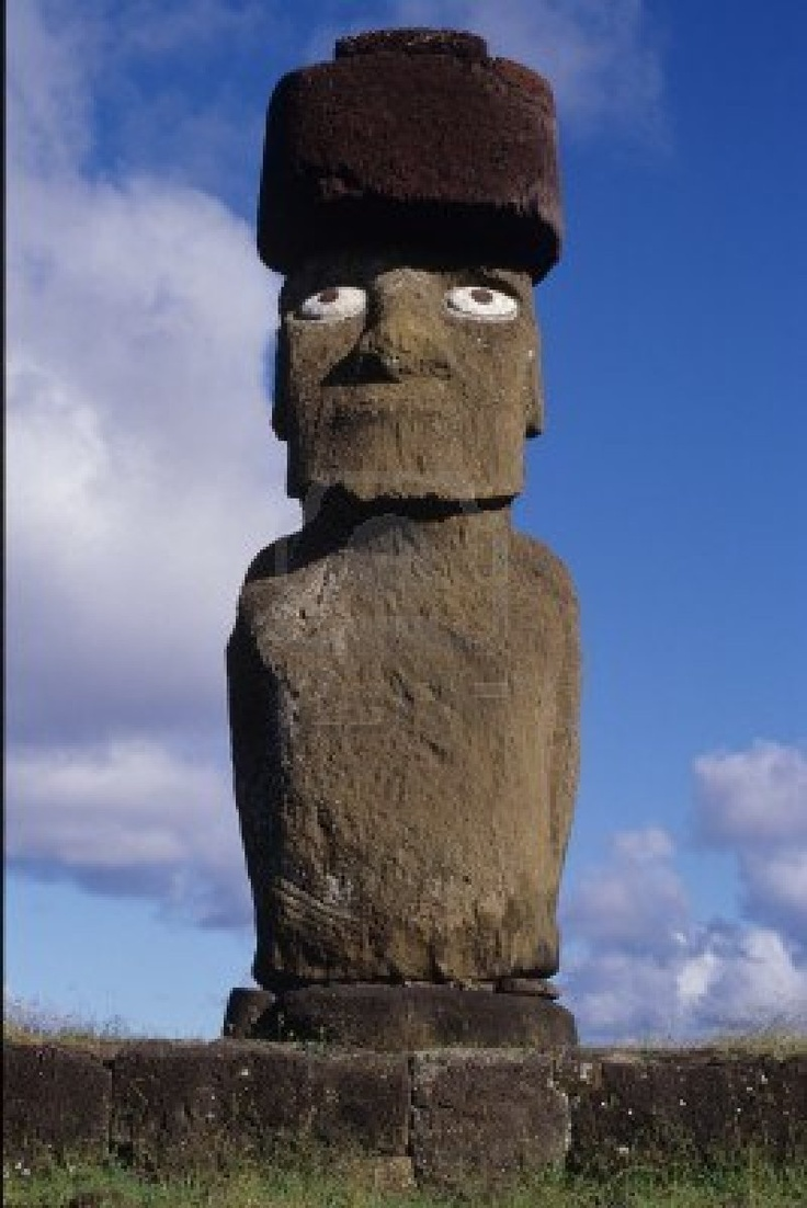 1000 images about Moai Rapa Nui on Pinterest  Statue of