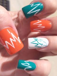 26 best images about Miami Dolphins Makeup Hair & Nails on ...