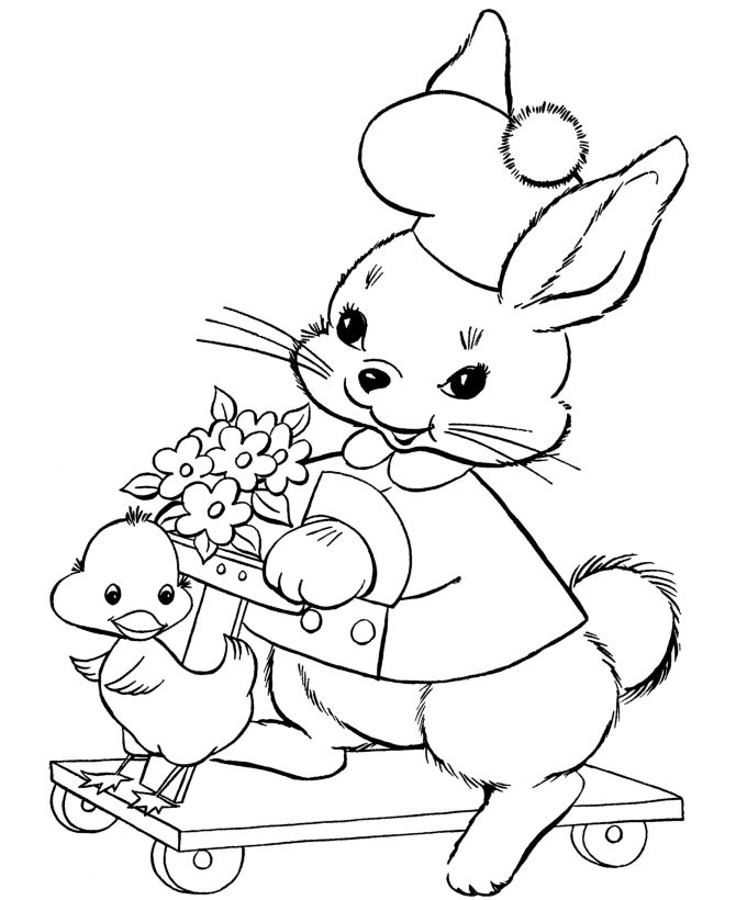 25+ best ideas about Bunny coloring pages on Pinterest