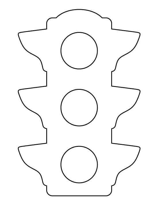 Traffic light pattern. Use the printable outline for