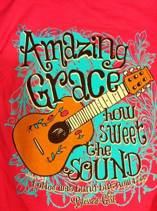 Blessed Girl tee shirt Luv the guitar theme  Art