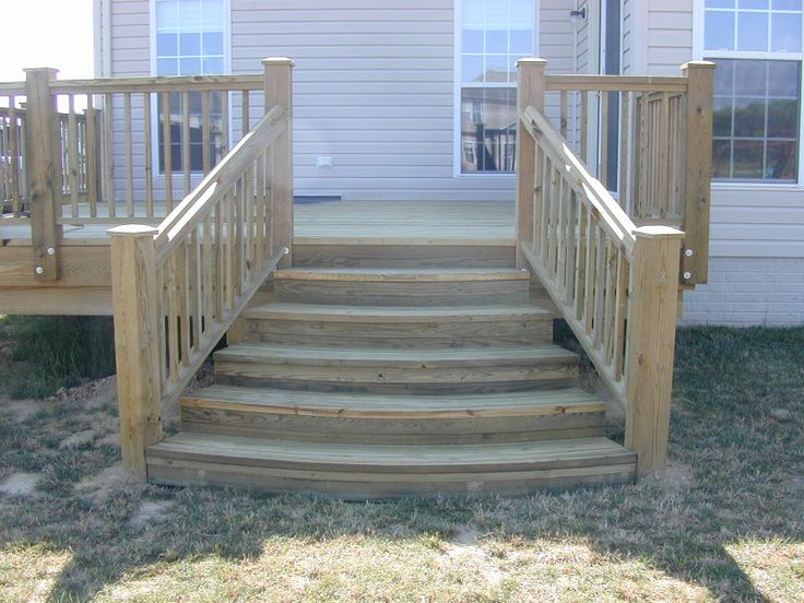 deck steps images  This customer wanted something a little different in the stairs that