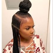 black braids