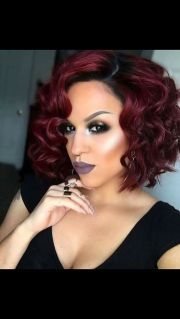 red burgundy weave