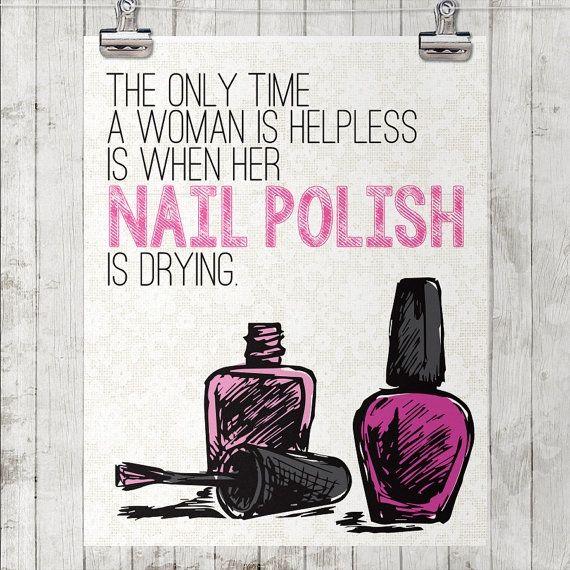 Cool Nail Polish And Nail Salon Decor From Etsy Amazing