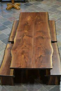 Custom Made Live Edge Walnut Slab Dining Table | Beth ...