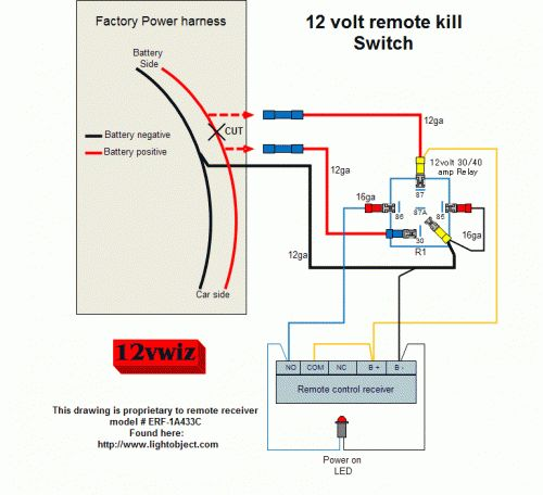 Sg Wiring Diagram Toggle 12 Volt Remote Kill Switch Diagram By 12vwiz Sg Gear