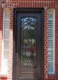 Custom wrought iron front door. | Single doors | Pinterest ...