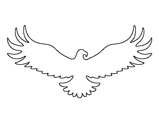 Eagle pattern. Use the printable outline for crafts
