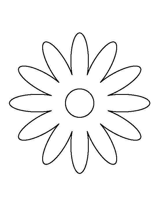 Daisy pattern. Use the printable outline for crafts