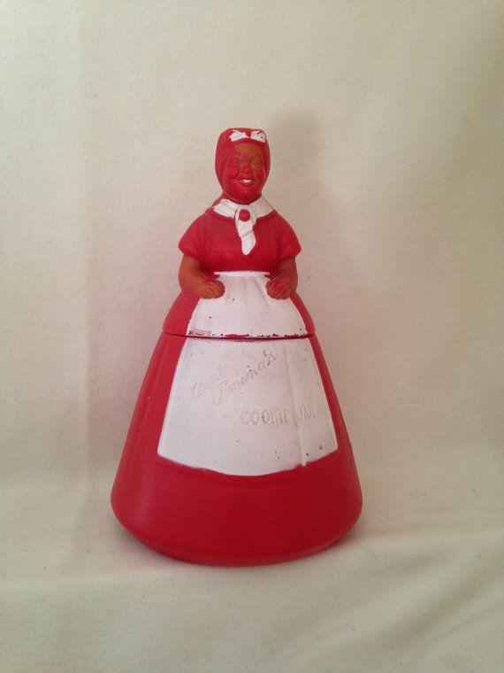Rare Vintage Aunt Jemima Plastic Cookie Jar Antique FampF