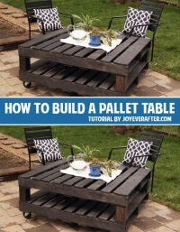 How To Build Patio Furniture Out Of Pallets - WoodWorking ...