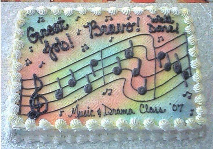 Music Sheet Cake Buttercream Cakes Pinterest Sheet