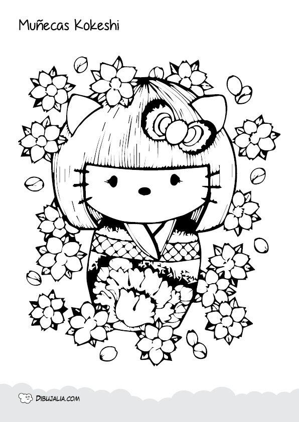 Cuadernillo Con Ms De 15 Muecas Kokeshi Para Colorear