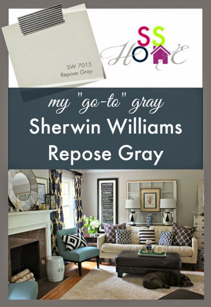 My Go To Gray Paint Color Repose Gray Paint Colors
