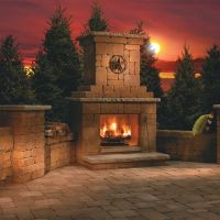 17 Best ideas about Outdoor Wood Burning Fireplace on ...