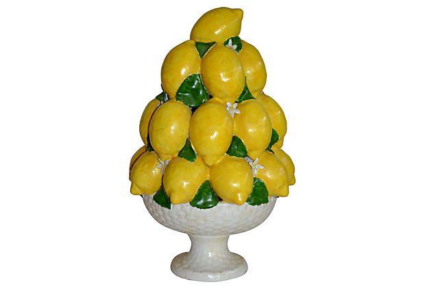 Italian Ceramic Lemon Topiary Ceramics Vintage And Topiaries