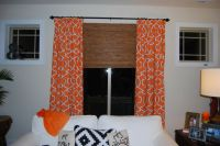 Home Chic Raleigh- Orange curtains, patterned curtains ...