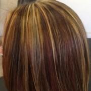 tri color paneling hair jehnyfer