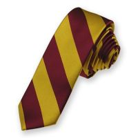 School Uniform Neckties. Maroon and Gold Skinny Striped ...
