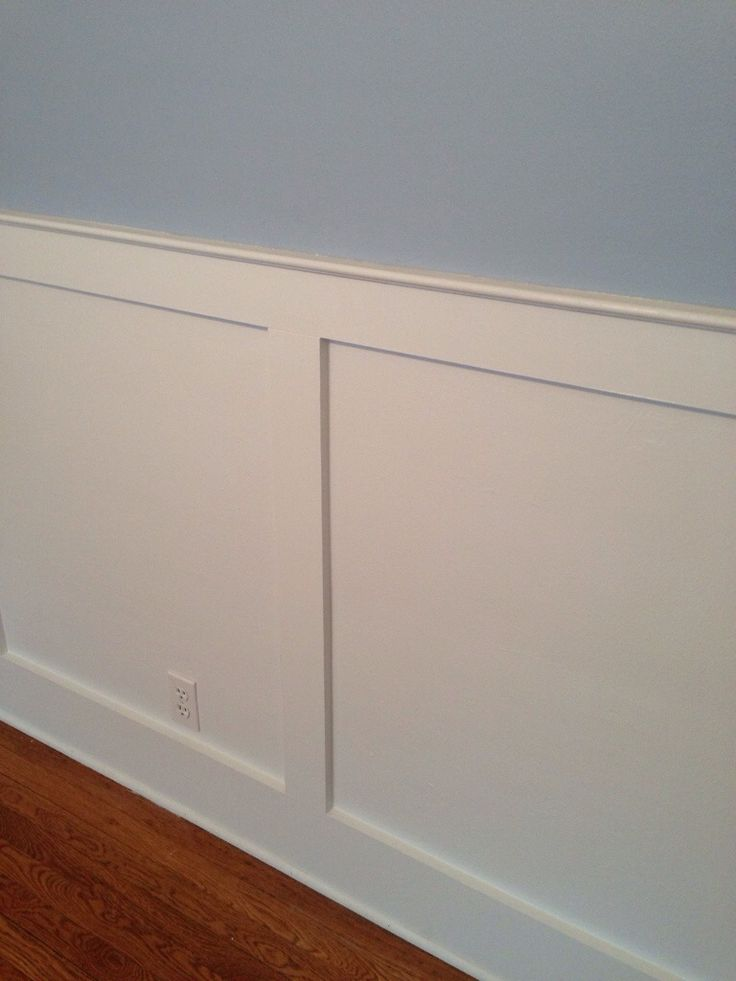 shaker style chair rail or wainscotting  Kitchen