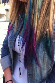 dyed tips 's hair