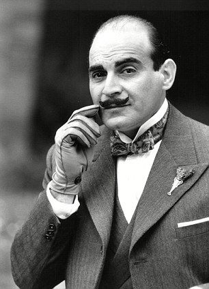 The Monogram Murders Review Actor David Suchet as Hercule Poirot in Agatha Christies Poirot Black and White Photograph