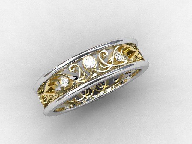 Izyaschnye Wedding Rings Gold Filigree Wedding Rings Uk