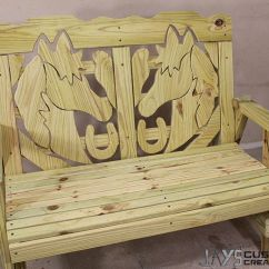 Diy Patio Chairs Posture Office Review How To Make A Horse Themed Bench – Jays Custom Creations | Pocket Hole Projects Pinterest ...