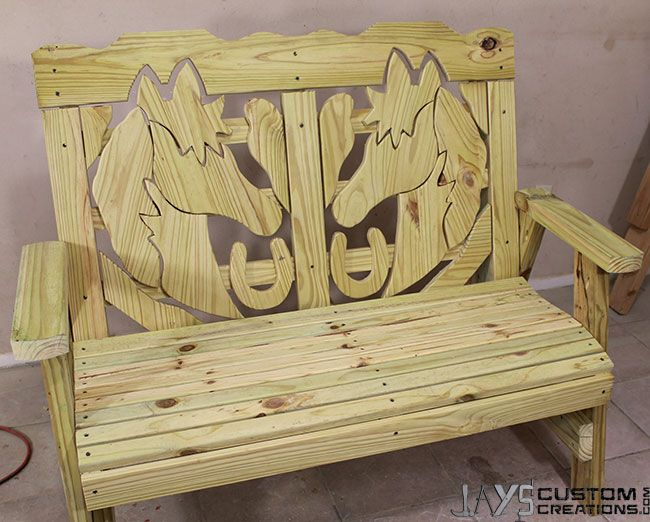 wood patio chair plans office jack how to make a horse themed bench – jays custom creations | pocket hole projects pinterest ...