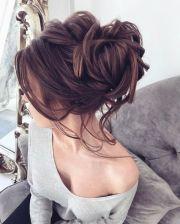 ideas brunette updo