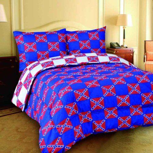 Regal Comfort Queen Size Checkered Rebel Flags Design 7