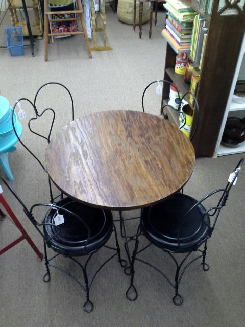 SOLD  This is a childs size soda fountain style wood top