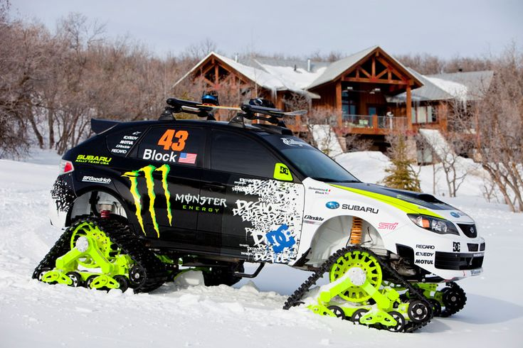 Rally Car Wallpaper Snow Subaru Trax Sti Ken Block Monster Snow Cat Track Truck