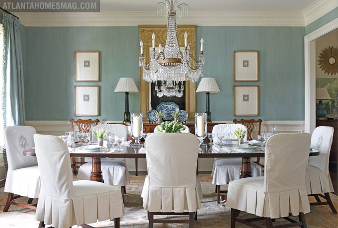 light blue dining chair covers cover rental cost room. (walls: farrow & ball oval room over in custom strié ...