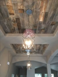 What a stunning accent feature! Double entry coffered ...